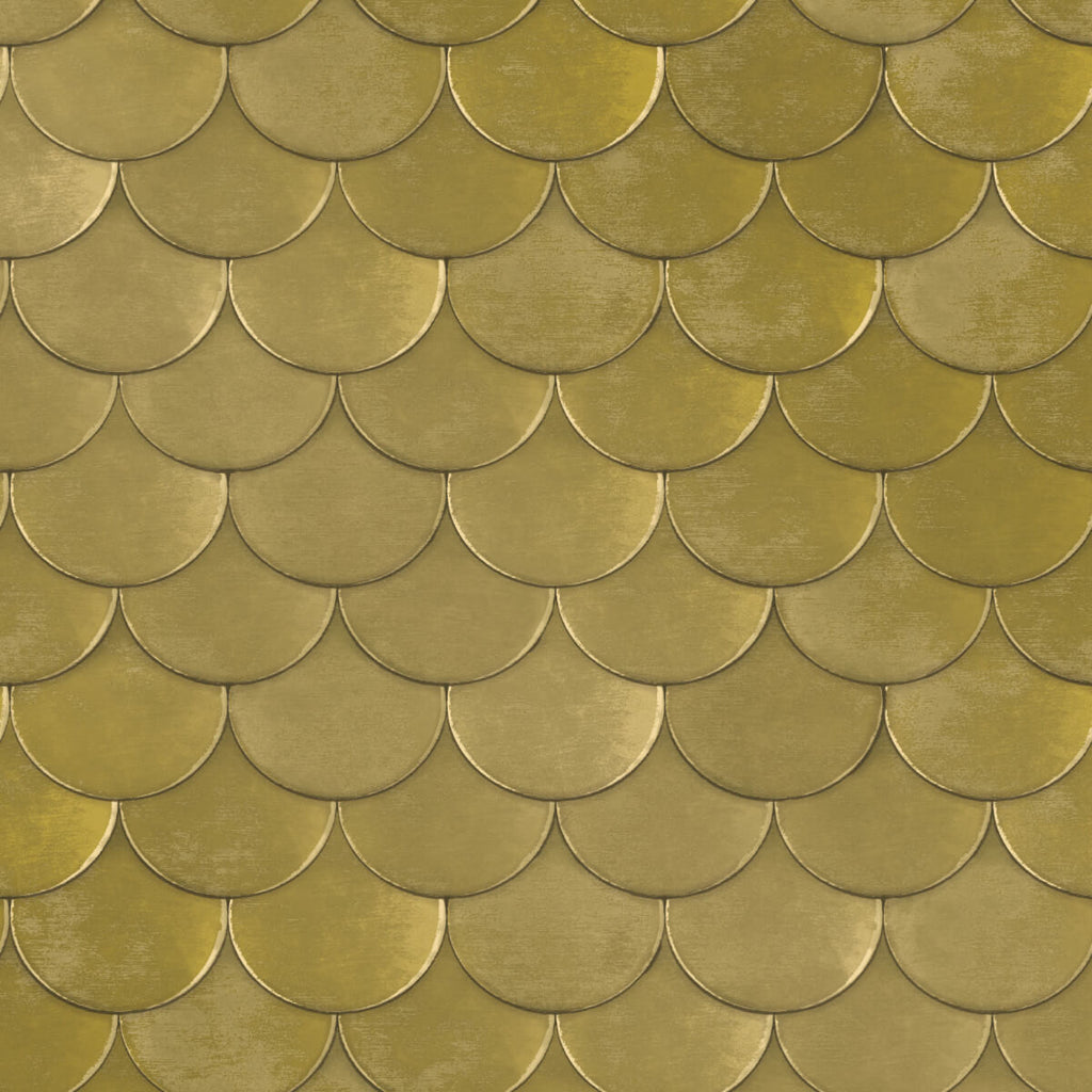Brass Belly Self Adhesive Wallpaper In Old World Brass