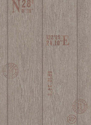 Brenden Faux Wood Wallpaper in Brown design by BD Wall