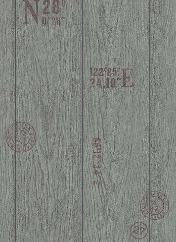 Brenden Faux Wood Wallpaper in Grey and Black design by BD Wall