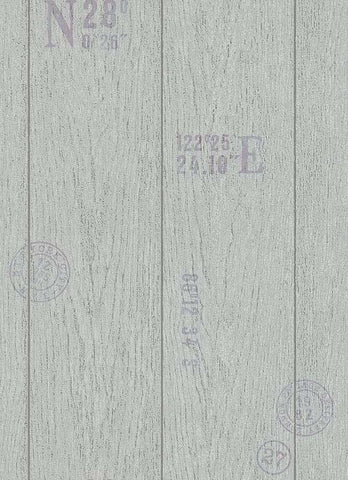 Brenden Faux Wood Wallpaper in Grey design by BD Wall