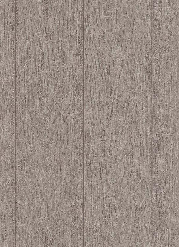 Sample Brennan Faux Wood Wallpaper in Brown design by BD Wall