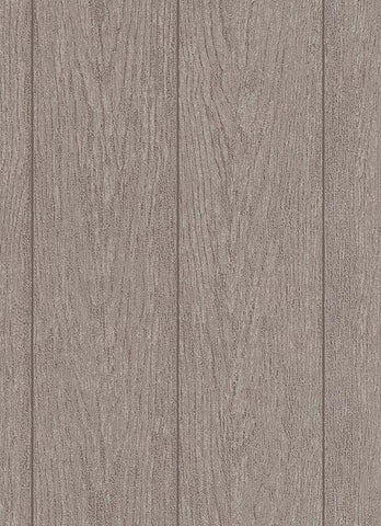 Brennan Faux Wood Wallpaper in Brown design by BD Wall