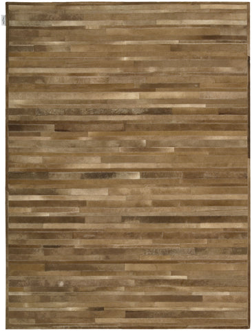 Breton 100% Cowhide Area Rug in Amber design by Calvin Klein Home