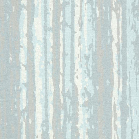 Briarwood Wallpaper in Blue and Pearlescent from the Terrain Collection by Candice Olson for York Wallcoverings
