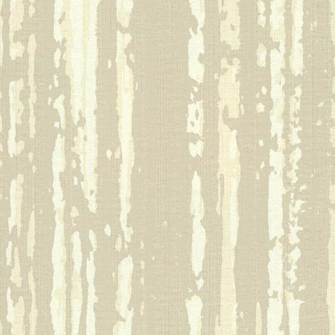 Briarwood Wallpaper in Ivory and Pearlescent from the Terrain Collection by Candice Olson for York Wallcoverings