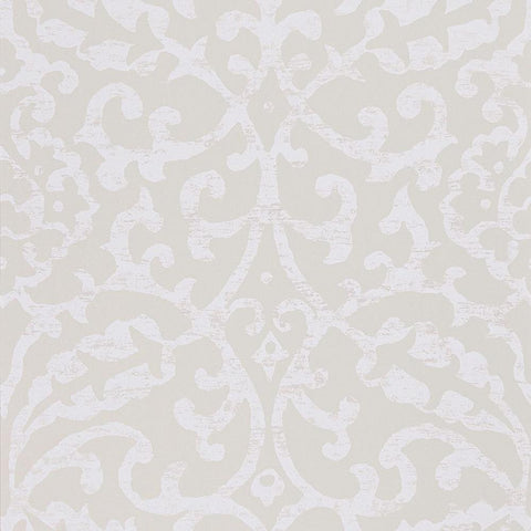 Brideshead Damask Wallpaper in Ivory from the Ashdown Collection by Nina Campbell for Osborne & Little