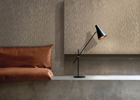 Brilliant Partridge Wallpaper in Mink from the Moderne Collection by Stacy Garcia for York Wallcoverings