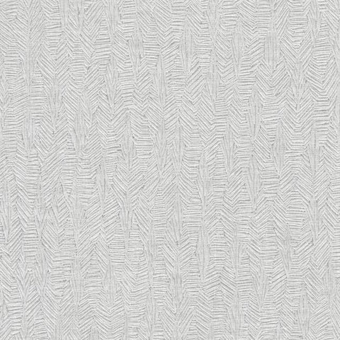 Brilliant Partridge Wallpaper in Silver from the Moderne Collection by Stacy Garcia for York Wallcoverings