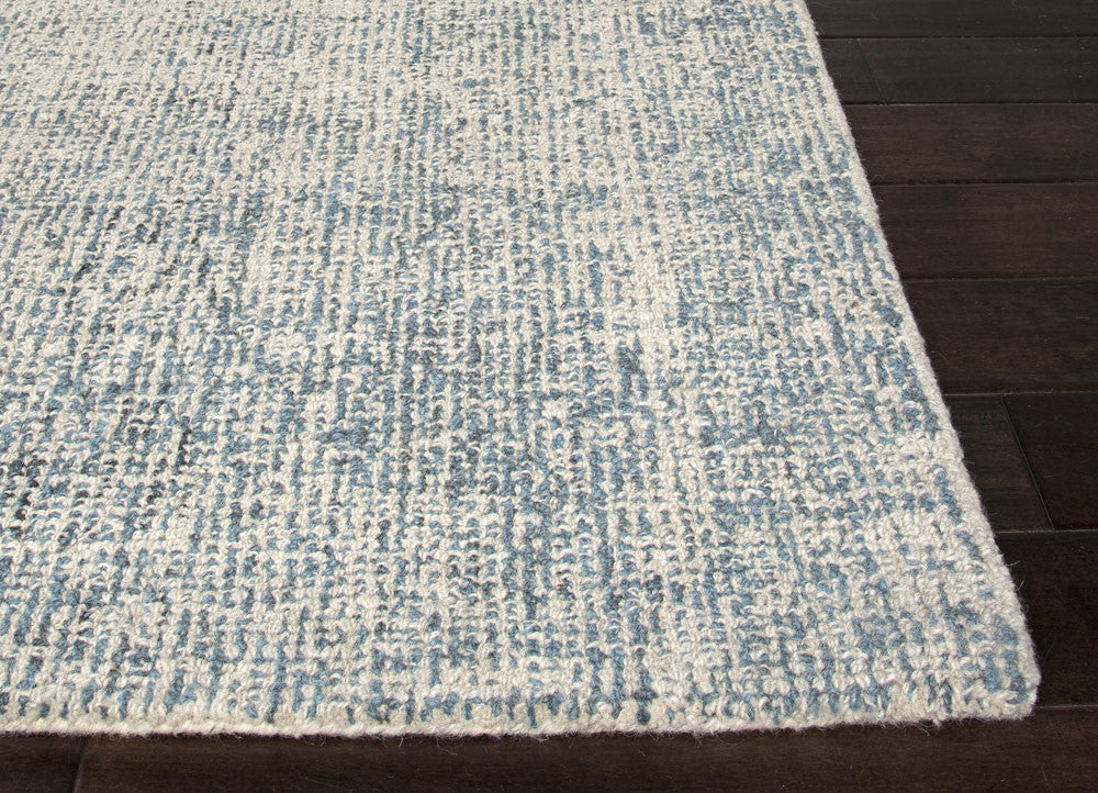 Lovely Britta Collection 100% Wool Area Rug In White Ice U0026 Blue Print By Jaipur