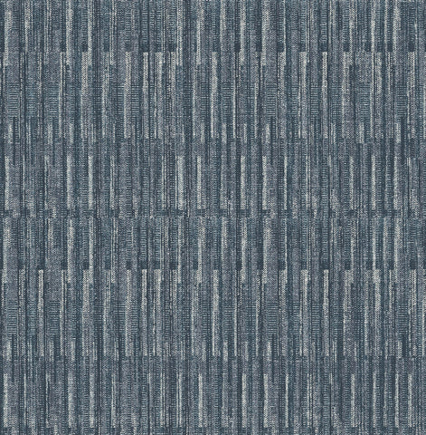 Brixton Texture Wallpaper in Indigo from the Scott Living Collection by Brewster Home Fashions