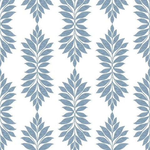 Broadsands Botanica Wallpaper in Blue from the Water's Edge Collection by York Wallcoverings