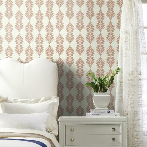 Broadsands Botanica Wallpaper in Coral from the Water's Edge Collection by York Wallcoverings