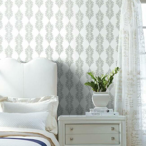 Broadsands Botanica Wallpaper in Fog from the Water's Edge Collection by York Wallcoverings