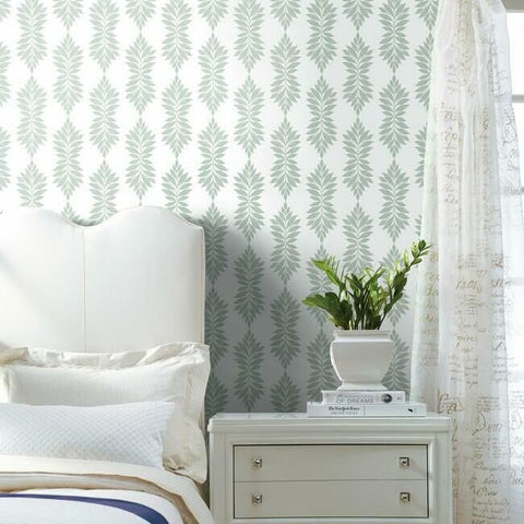 Broadsands Botanica Wallpaper in Mint from the Water's Edge Collection by York Wallcoverings