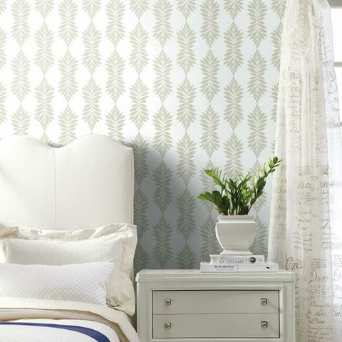 Broadsands Botanica Wallpaper in Sand from the Water's Edge Collection by York Wallcoverings