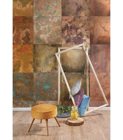 Bronze & Copper Boutique Faux Wallpaper design by Milton & King
