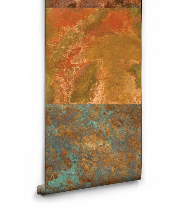 Sample Bronze & Copper Boutique Faux Wallpaper design by Milton & King