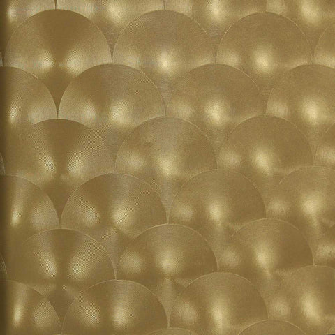 Bronze Metallic Circles Wallpaper by Julian Scott Designs