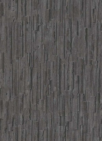 Brooke Faux Bark Wallpaper in Black design by BD Wall