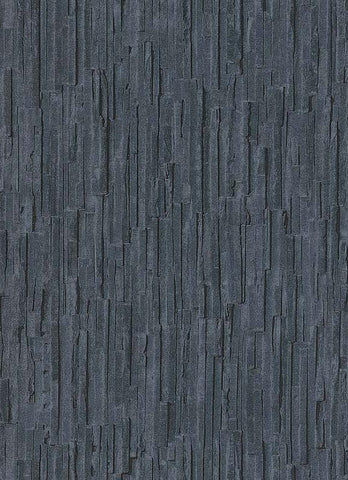 Brooke Faux Bark Wallpaper in Blue and Grey design by BD Wall