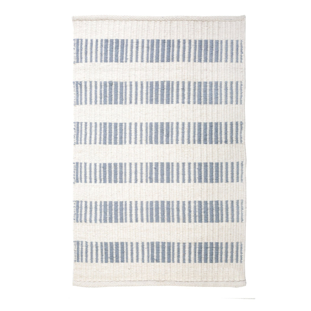 Brooke Handwoven Rug in Nordic Blue in multiple sizes by Pom Pom at Home