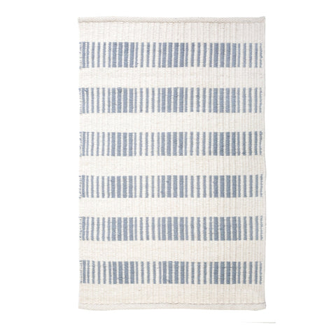 Brooke Handwoven Rug in Nordic Blue in multiple sizes