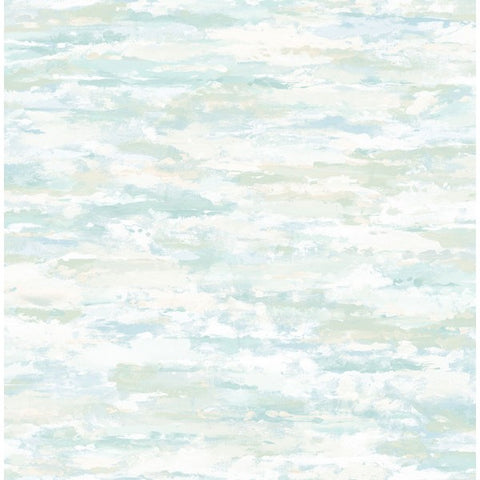 Brushstrokes Wallpaper in Blue, Grey, and White from the French Impressionist Collection by Seabrook Wallcoverings