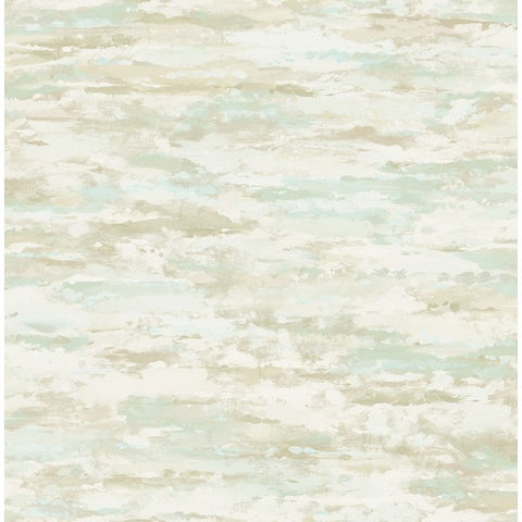 Brushstrokes Wallpaper in Green, Tan, and Ivory from the French Impressionist Collection by Seabrook Wallcoverings