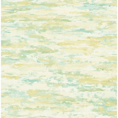 Brushstrokes Wallpaper in Green and Gold from the French Impressionist Collection by Seabrook Wallcoverings