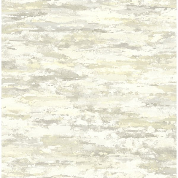 Brushstrokes Wallpaper in Neutrals and Off-White from the French Impressionist Collection by Seabrook Wallcoverings
