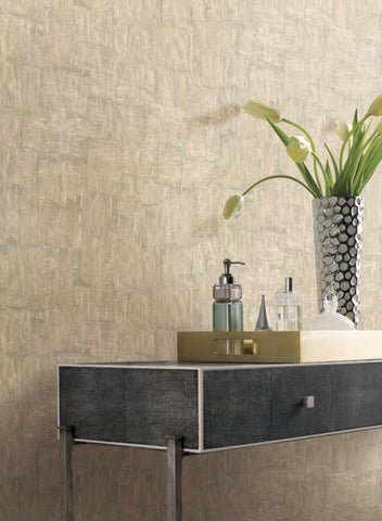 Brushstrokes Wallpaper in Sand from the Urban Oasis Collection by York Wallcoverings