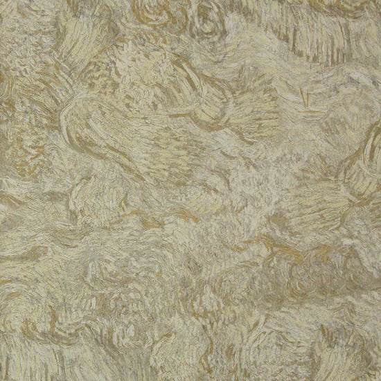 Brushstrokes Wallpaper in Warm Beige from the Van Gogh Collection by Burke Decor