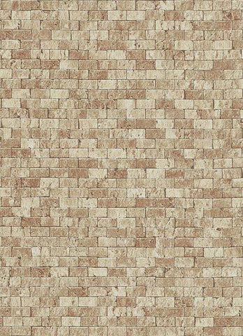 Brynn Faux Brick Wallpaper in Brown design by BD Wall