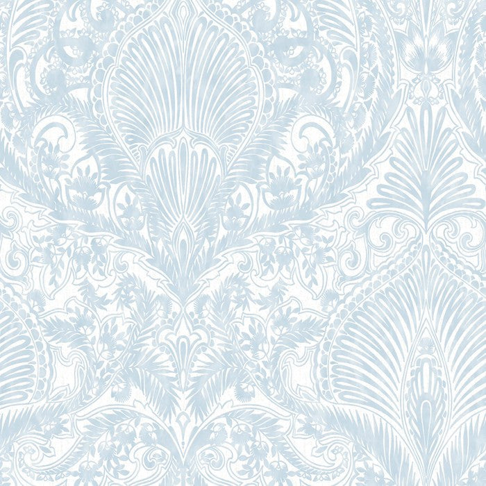 Sample Burlesque Wallpaper in Duck Egg by Julien MacDonald for Graham & Brown