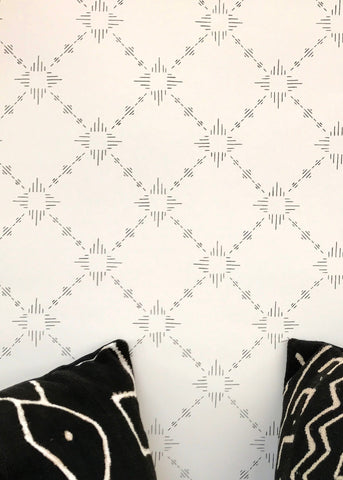Burst Wallpaper in Hickory design by Cavern Home