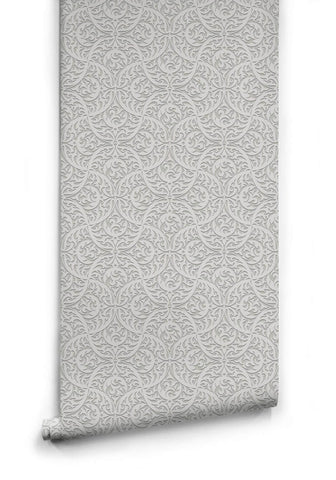 Butan Wallpaper in Bone from the Kingdom Home Collection by Milton & King