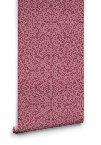 Butan Wallpaper in Plum from the Kingdom Home Collection by Milton & King