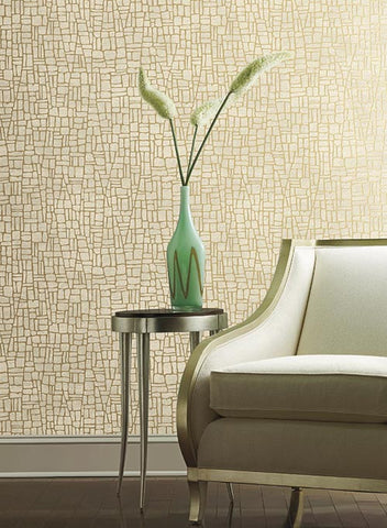 Butler Stone Wallpaper by Antonina Vella for York Wallcoverings