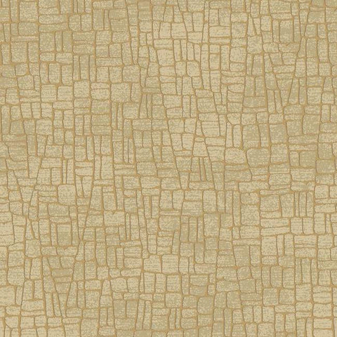 Butler Stone Wallpaper in Gold and Brown by Antonina Vella for York Wallcoverings
