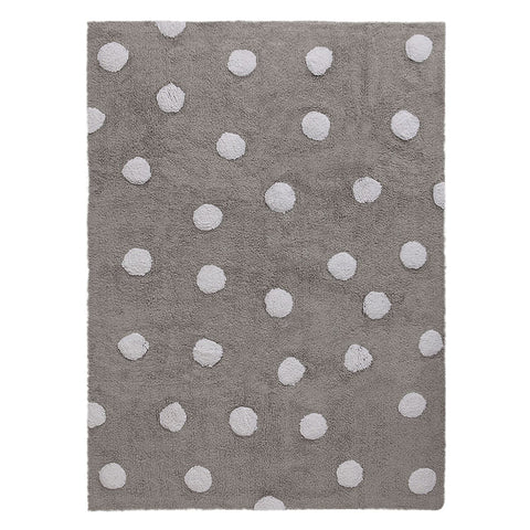 Polka Dots Rug in Grey & White design by Lorena Canals