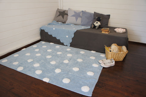 Polka Dots Rug in Blue & White design by Lorena Canals