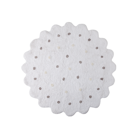 Little Biscuit Rug in White design by Lorena Canals