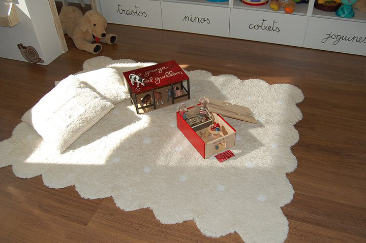 Biscuit Rug in Beige design by Lorena Canals