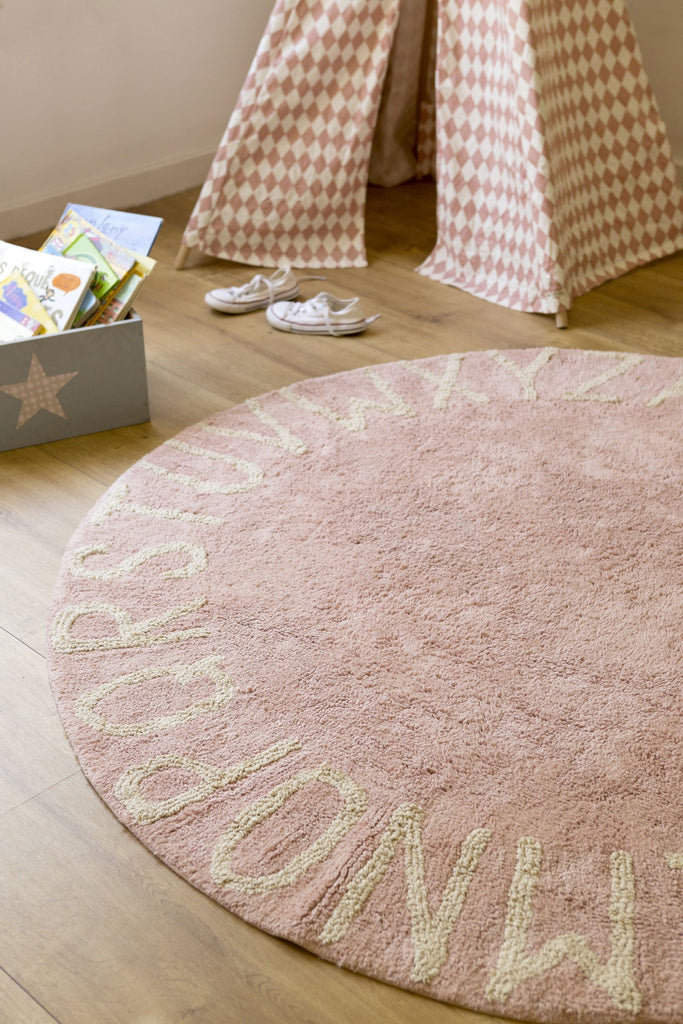 Round ABC Rug in Natural & Vintage Nude design by Lorena Canals