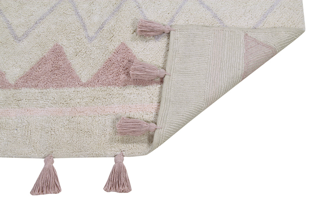 Azteca Natural Rug in Vintage Nude design by Lorena Canals