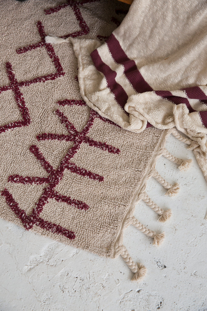 Bereber Rug in Burgundy design by Lorena Canals