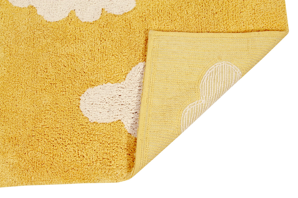 Clouds Rug in Mustard design by Lorena Canals