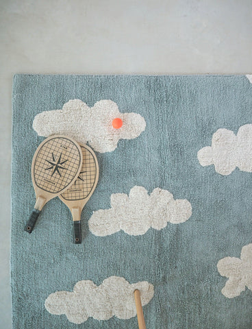 Clouds Rug in Vintage Blue design by Lorena Canals