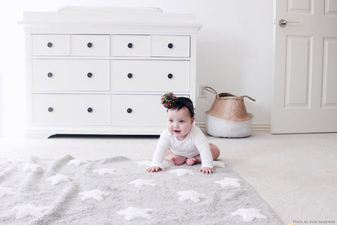 Stars Rug in Grey & White design by Lorena Canals