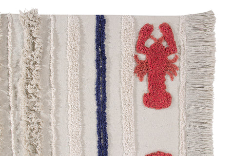 Mini Lobster Washable Rug design by Lorena Canals